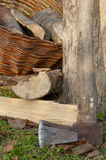 Chopped firewood Stock Images