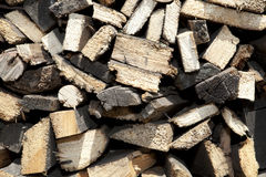 Chopped firewoods Stock Photography