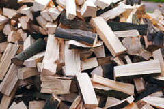 Chopped firewoods on a stack Royalty Free Stock Photography