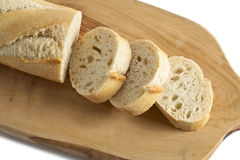 Chopped french bread Royalty Free Stock Photography