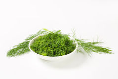 Chopped fresh dill Stock Photos
