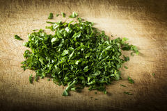 Chopped fresh green parsley Stock Photography