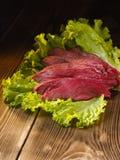 Chopped fresh meat stock image