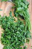 Chopped Fresh Parsley Stock Photos