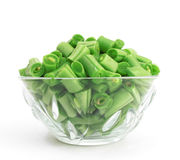 Chopped green beans Royalty Free Stock Image