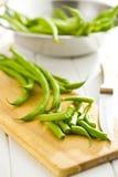 Chopped green beans Stock Photo
