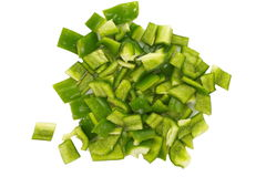 Chopped green Bell Pepper Royalty Free Stock Image