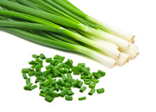 Chopped green onions Royalty Free Stock Photos