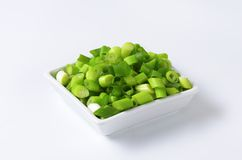 Chopped green onions Royalty Free Stock Image