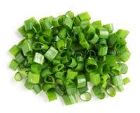 Chopped green onions Royalty Free Stock Photos