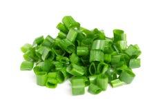 Chopped green onions Stock Image