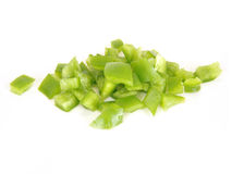 Chopped green pepper Stock Photography