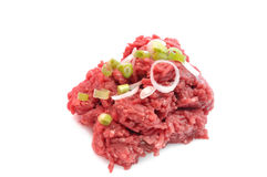 Chopped or ground beef Stock Photo