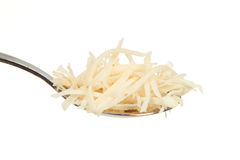 Chopped Horseradish on a teaspoon Stock Images