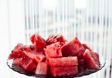 Chopped juicy watermelon Stock Photos