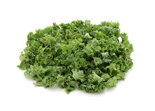 Chopped kale. Isolated on a white background Stock Photo
