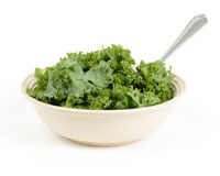 Chopped kale salad with fork Stock Photography