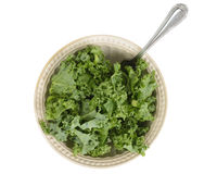 Chopped kale salad with fork Stock Images
