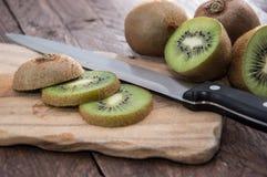 Chopped Kiwi Stock Image