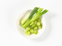 Chopped leek Royalty Free Stock Image