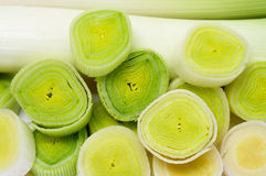 Chopped leeks Royalty Free Stock Image