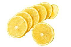 Chopped lemon Stock Images