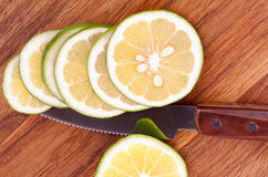 Chopped Lemons Stock Images