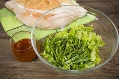 Chopped lettuce Stock Photography
