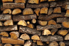 Chopped logs Stock Photo