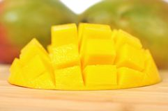 Chopped mango Stock Photography