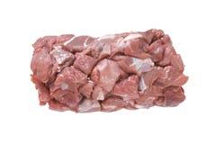 Chopped meat. Studio shot and close up (macro) lens Royalty Free Stock Image