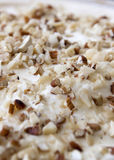 Chopped Mixed Nuts And Whipped Cream On Top Of Christmas Trifle Royalty Free Stock Images