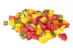 Chopped mixed Peppers Royalty Free Stock Images