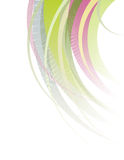 Chopped multicolored hair. Abstract illustration: multi-colored hair cut on a white background Royalty Free Illustration
