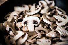 Chopped mushrooms Royalty Free Stock Images