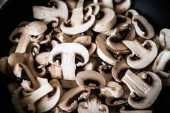 Chopped mushrooms Royalty Free Stock Photo