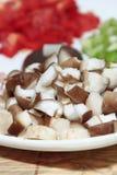 Chopped mushrooms Stock Image