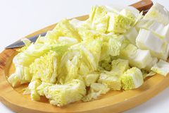 Chopped napa cabbage Royalty Free Stock Photo