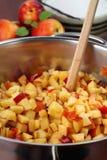 Chopped nectarines Royalty Free Stock Image