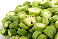 Chopped Okra Royalty Free Stock Images