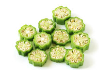 Chopped okra Royalty Free Stock Photo