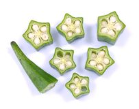 Chopped (okra) Royalty Free Stock Images