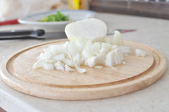 Chopped onion Royalty Free Stock Images
