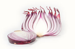 Chopped onion. A chopped onion isolated on white background stock photos