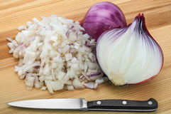 Chopped onion Royalty Free Stock Image