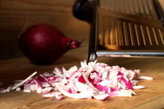 Chopped onions 2 Stock Photos