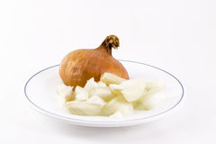 Chopped Onions Royalty Free Stock Photography