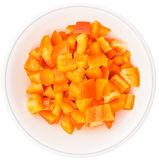 Chopped Orange Bell Pepper II Stock Image