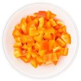 Chopped Orange Bell Pepper II Stock Image