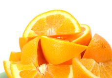 Chopped orange fruit Stock Images